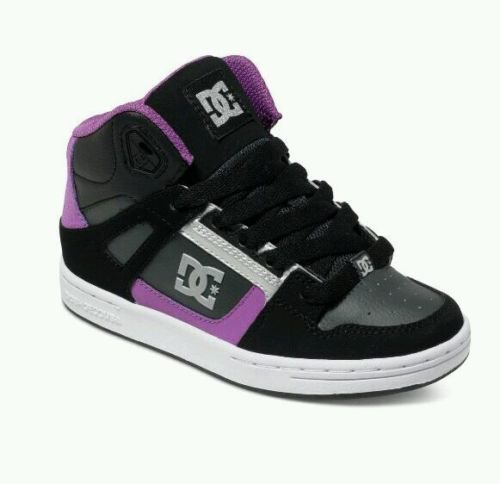 Girls Youth 5 M NEW Shoes Rebound 302676B Skateboard Sneakers Black Purple