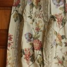 "Ivory floral pinch pleat Drapes pair NEW 48"" x 84"""