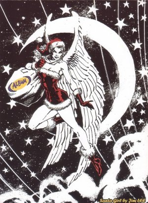 Santa Girl by Jim Lee Rare Promo Holidays Card Regular Edition 2004