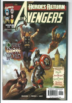 The Avengers Issue #2 Variant Painted Cover Ray Lago - Kurt Busiek Marvel Comics 1998