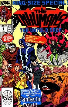 Inhumans King Size Special #1 The Untold Saga - John Romita Marvel Comics 1990