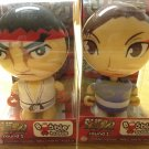 Bobble Budds Super Street Flighter IV round 1 Ryu & Chun-Li Pair