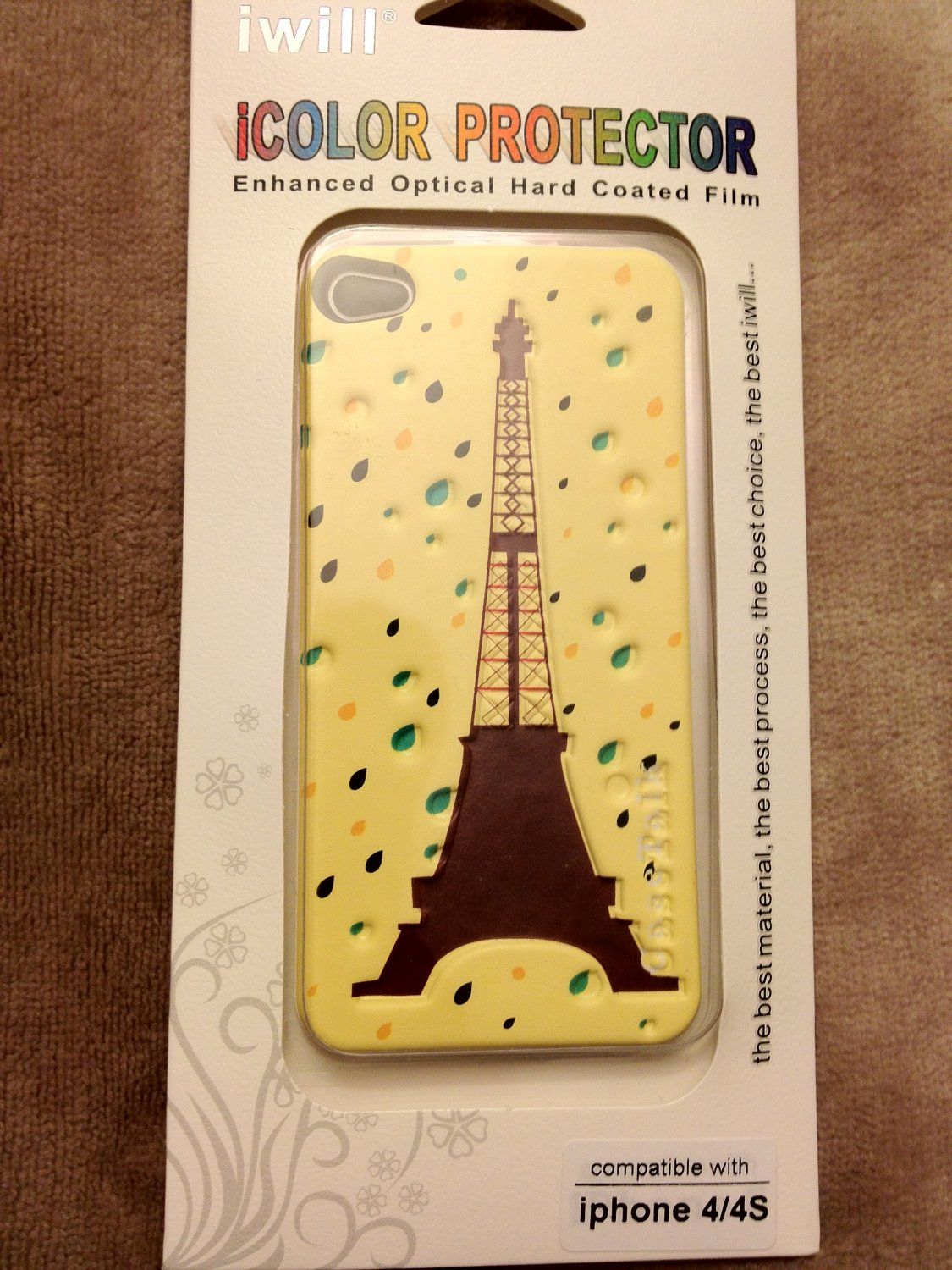 iPhone 4/4s iwill icolor protector (Case Talk Yellow Cheese)