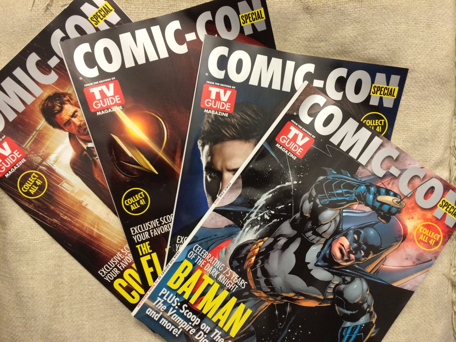 SDCC 2014 TV Guide Exclusives with all 4 different covers