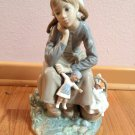 LLADRO Piece 1211 ANORANZA Girl with Doll – Retired with box