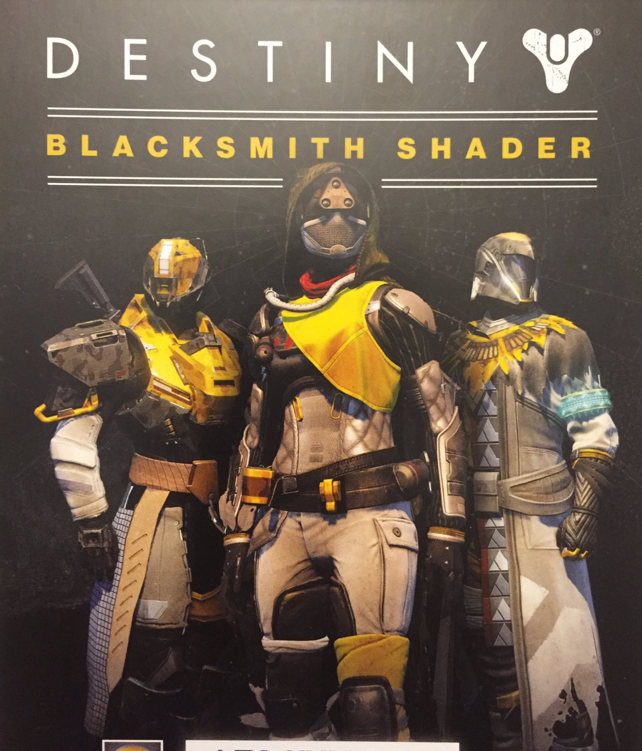 E3 2015 exclusive destiny blacksmith shader unlock code and destiny
