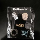 E3 2015 Exclusive Bethesda 5 pin set - FALLOUT 4 PIP BOY DISHONORED 2 OBLIVION.