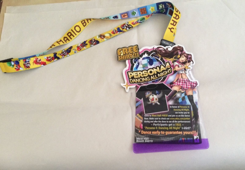 E3 2015 Super Mario Bros 30th Anniversary Lanyard