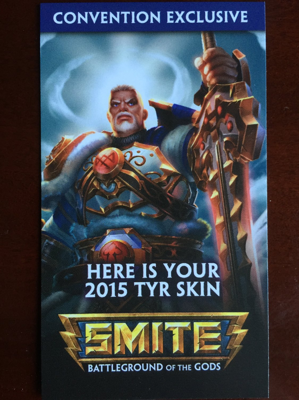 E3 2015 Exclusive SMITE Tyr Skin code