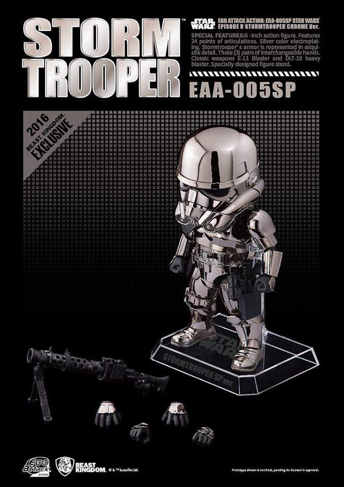SDCC 2016 Bluefin Beast Kingdom Egg Chrome Stormtrooper