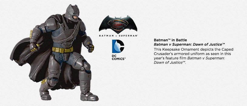 SDCC 2016 Hallmark Exclusive Batman� in Battle Keepsake Ornament