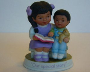 Vintage Avon 1991 OUR SPECIAL STORY FIGURINE