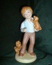 Vintage * AVON * Best Friends Figurine Boy w Dogs 1981