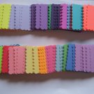 Rainbow Square Scalloped tags-Qty 25