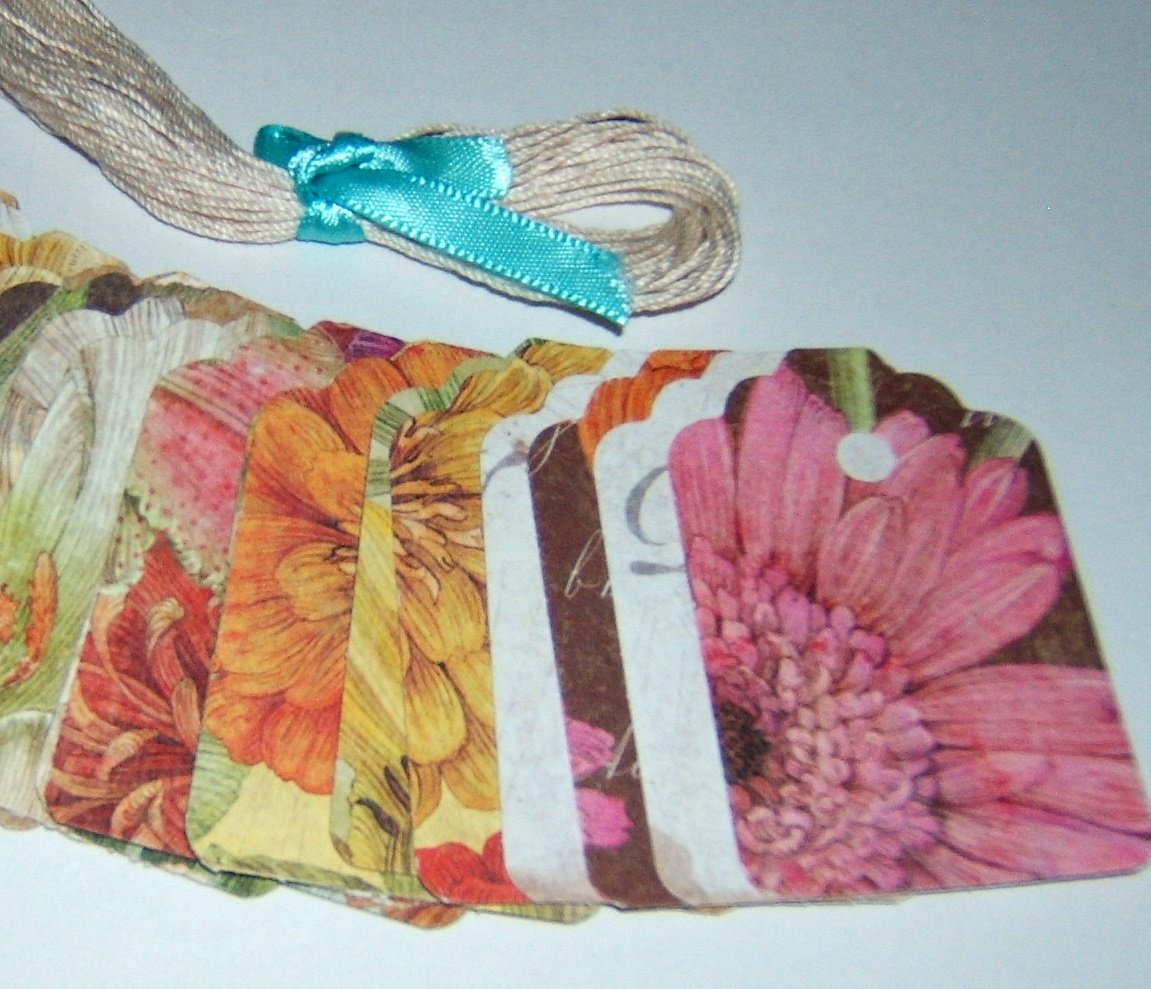 Gift Tag set-Cottage Garden - Qty 24