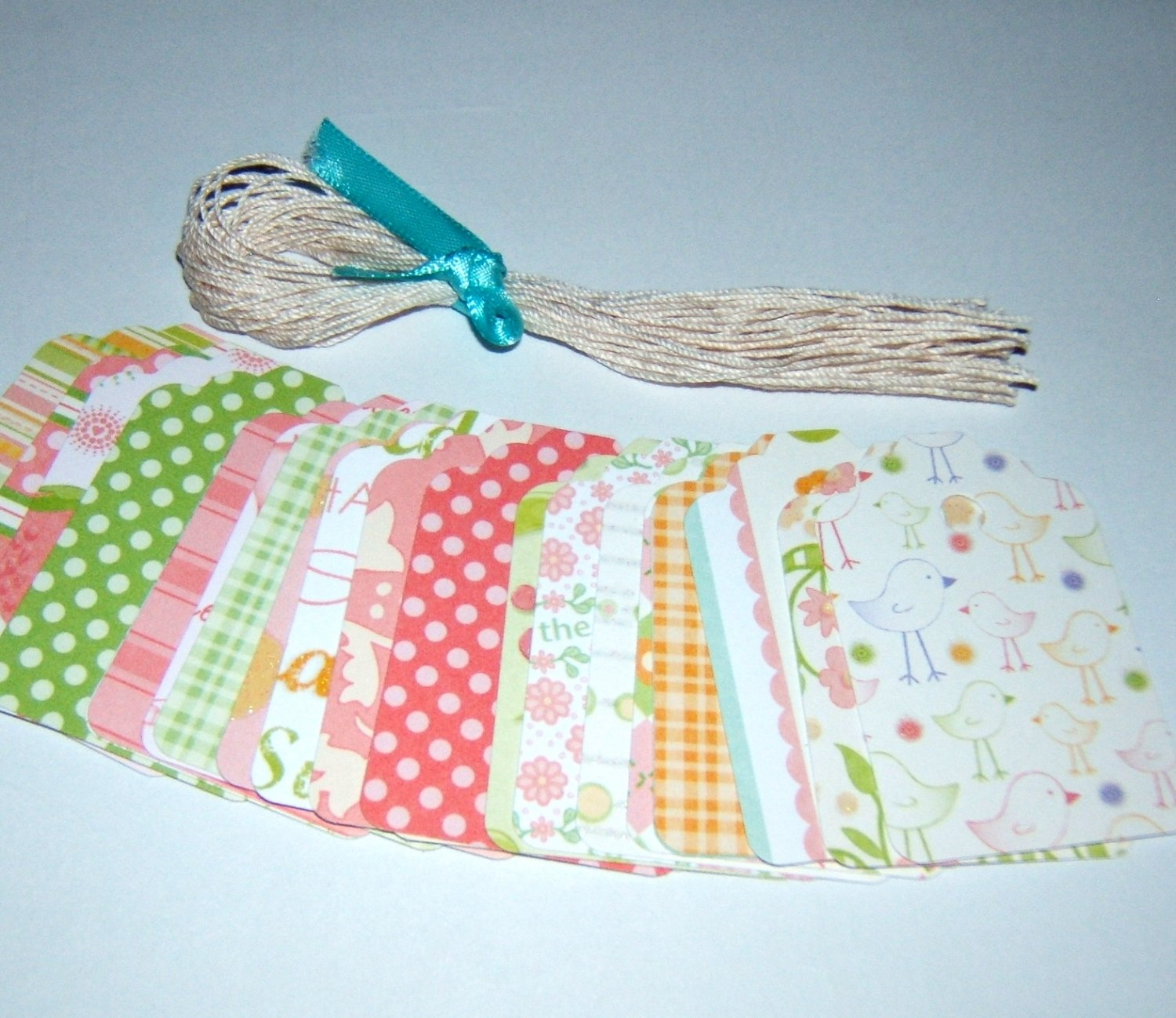 Gift Tag set- Nanas Nursery Baby Girl - Qty 24