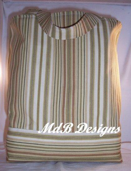 Book tote in Tan Stripes