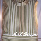 Book tote in Tan Stripes