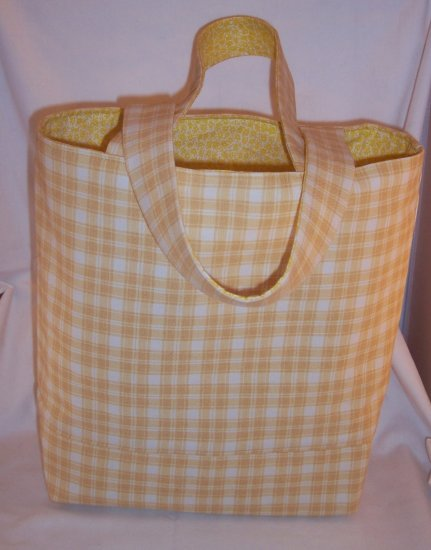 Country Yellow Print Book Tote