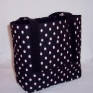 MIni Tote in Black and White dots