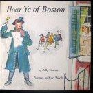 Hear Ye of Boston Curren Kurt Werth Vintage HC 1964