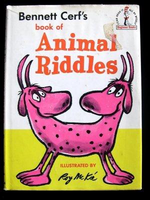 Bennett Cerf's Book of Animal Riddles McKie HCDJ 1964