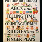 Picture Dictionary ABC's and Telling Time Counting 1975