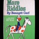 More Riddles Bennett Cerf Roy McKie Elephant Vintage HC