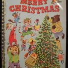 The Animals Merry Christmas Big Golden Book Vintage HC