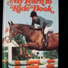 My Learn To Ride Book Giant Golden Horses Vintage 1975