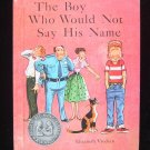 The Boy Who Would Not Say His Name Follett Vreeken 1959