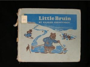 Little Bruin Haaken Christensen Bears Skiing Vintage HC