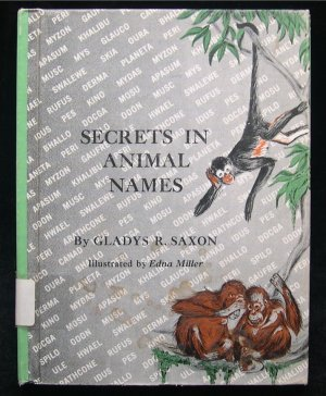 Secrets in Animal Names Gladys Saxon Edna Miller 1964
