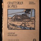 Craftsman Homes Gustav Stickley RARE 3rd Edition 1909