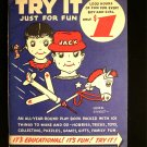 Try it Just For Fun Herb Sweet Vintage Play Book 1951