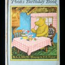 Pooh's Birtday Book A.A. Milne E.H. Shepard Vintage HC