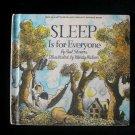 Sleep is for Everyone Showers Watson Science Book 1974