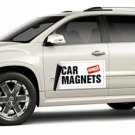 2 FULL COLOR CAR MAGNETS SIZE 18'' X 24'' ON 30MIL HEAVY DUTY MAGNETS, 1 SIDED