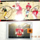 Joe Montana upper deck 1995 career set NFL cards + bonus card