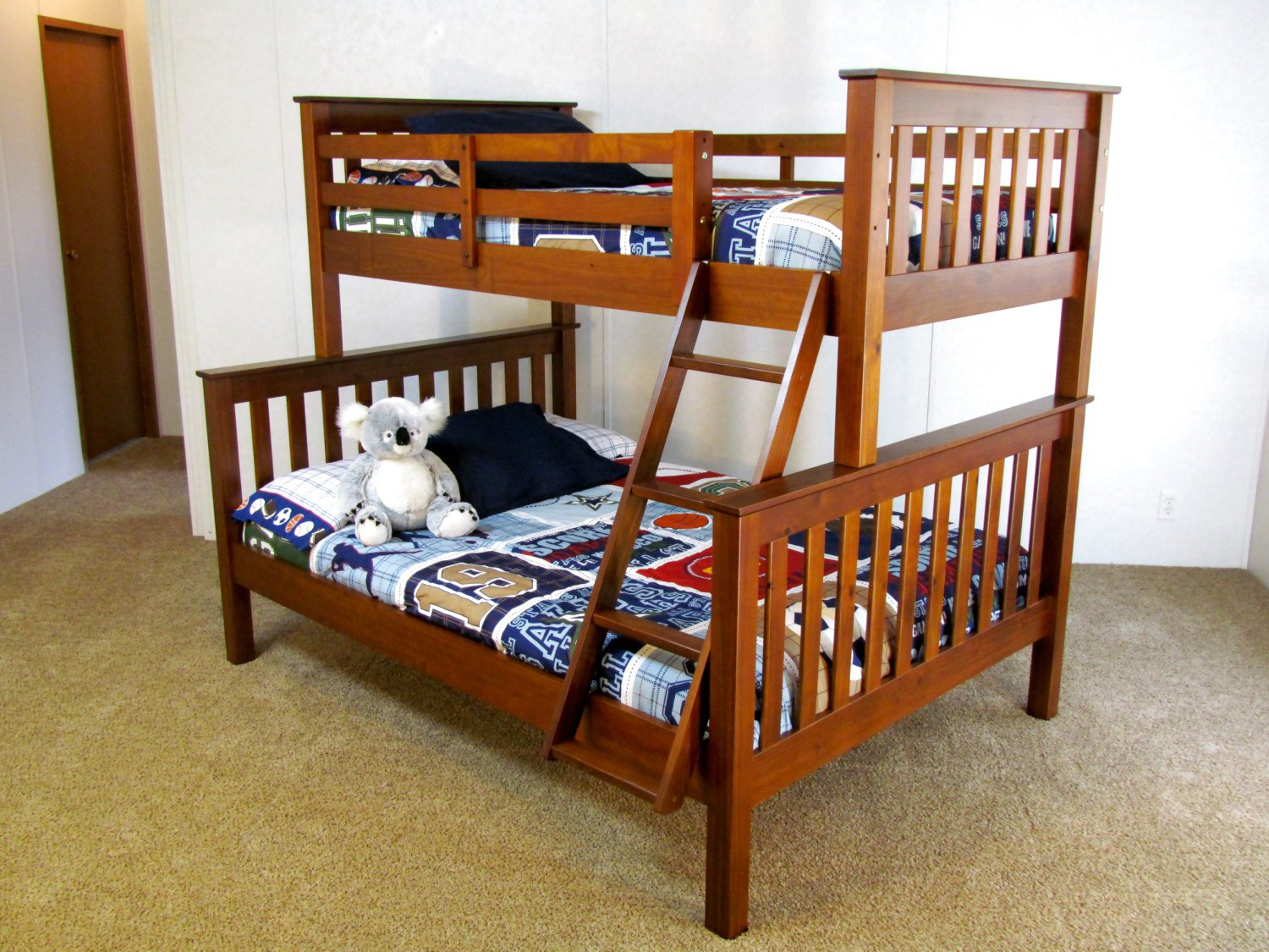 """Twin over Full Solid Wood Bunk Bed """"The Coolabah"""" FREE"""