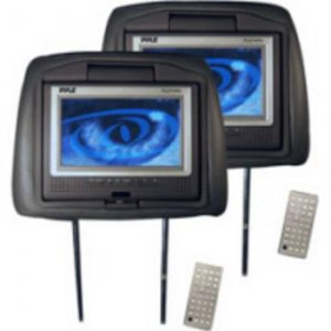 """Pyle PL7DHRB 7"""" TFT Monitor Adjustable Headrest with Built-In DVD Player"""