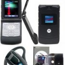 "Motorola ""Limited Edition"" Razr V3 Slim Cellular Phone (Unlocked) GSM + Motorola H500 Universal Wire"
