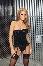 Vinyl corset