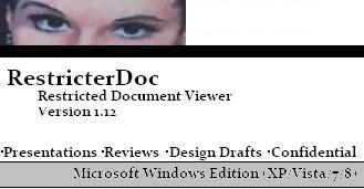 RestricterDoc 1.12 - Restricted Document Viewer