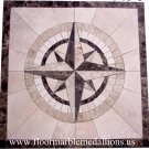 36'' x 36'' Floor Tile  Marble Medallion 8017B