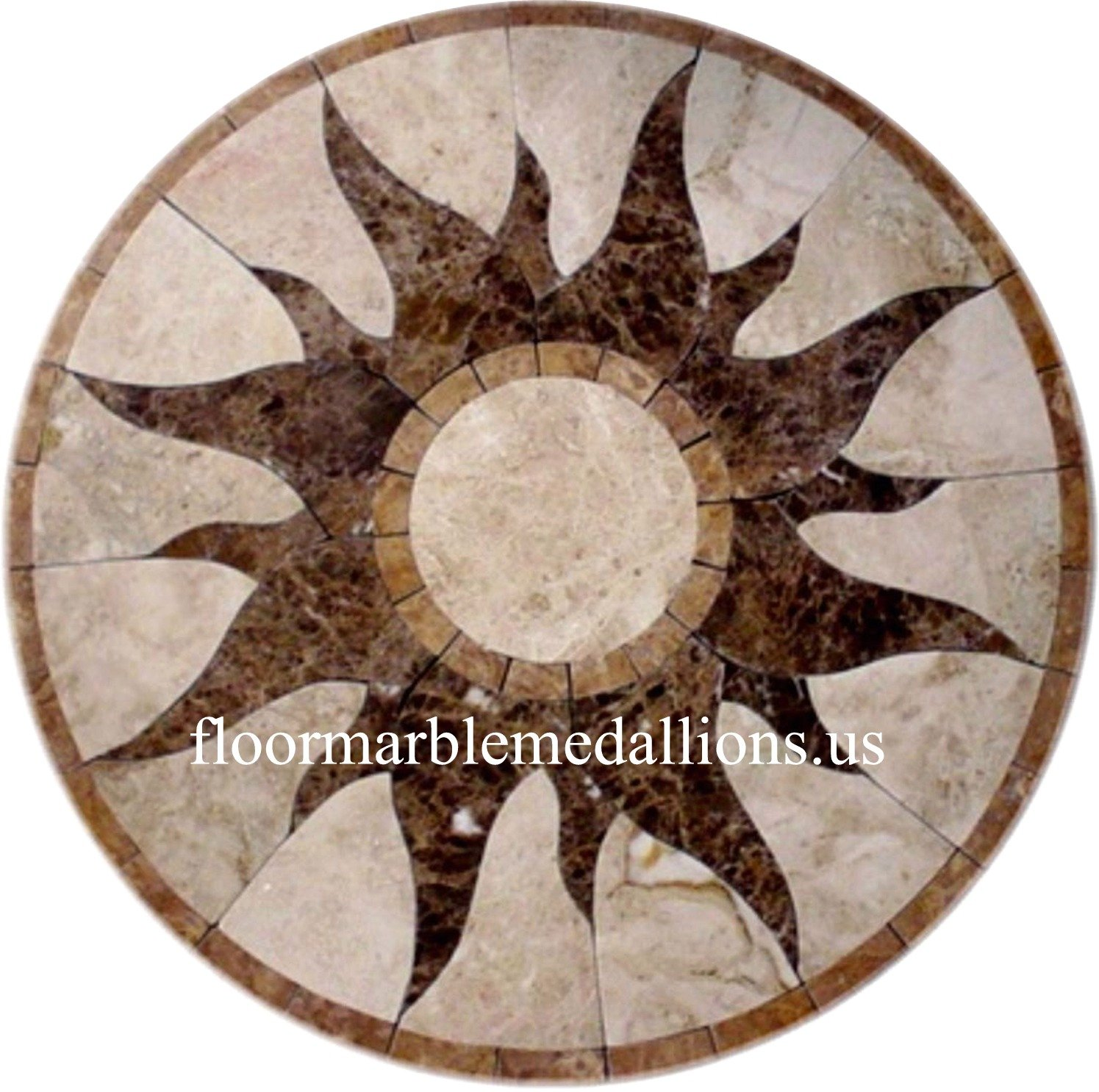 36 39 39 Floor Tile Marble Medallion 2008