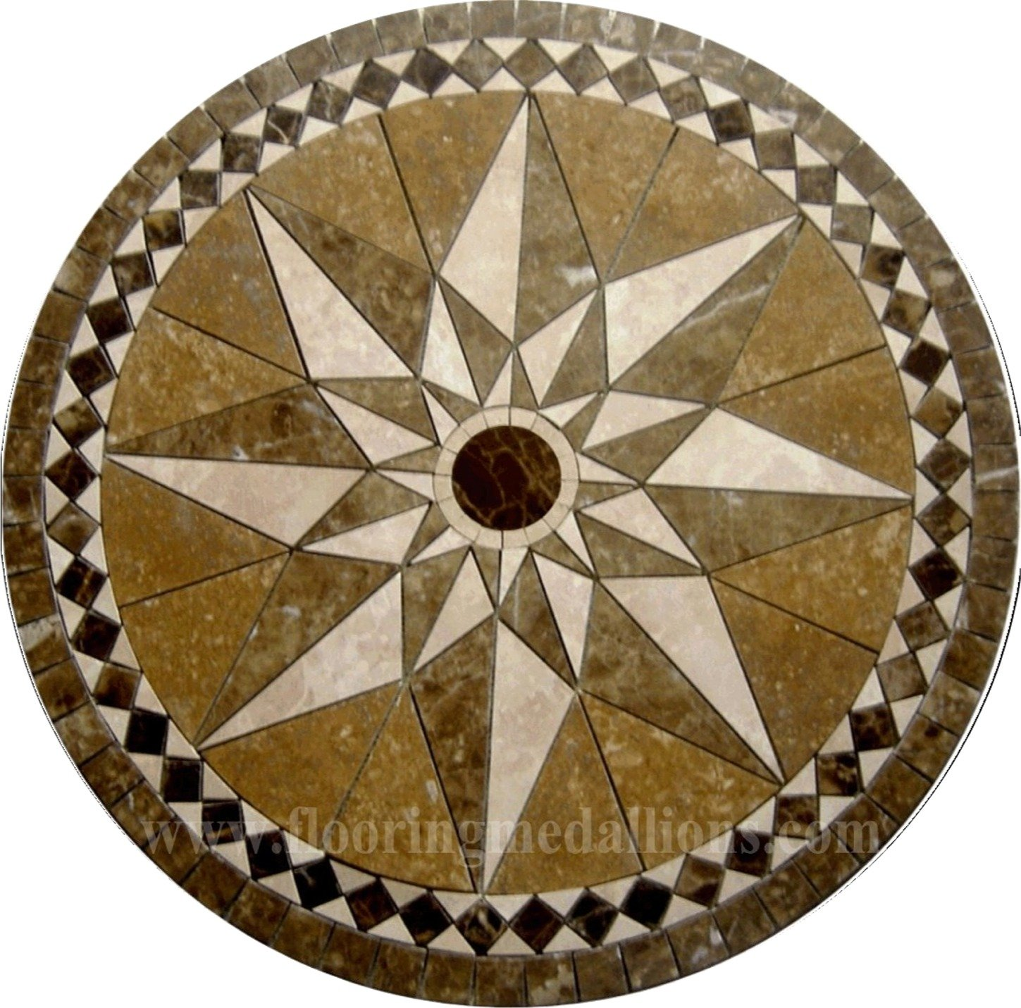 36 39 39 Floor Tile Marble Medallion 2016