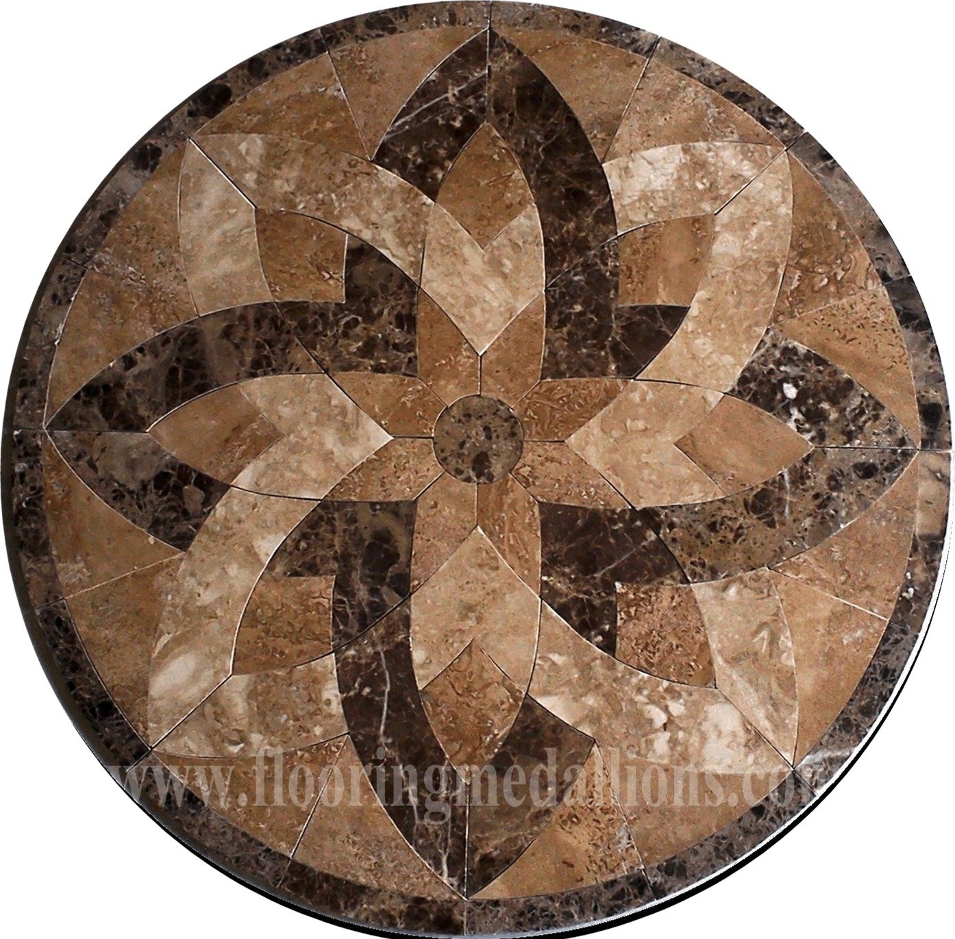 36 39 39 Floor Tile Marble Medallion 2002