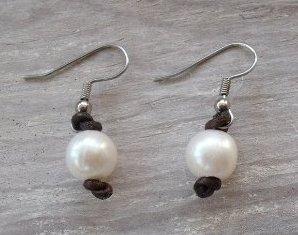 White Pearl Single Earring