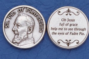 St. Padre Pio Pocket Coin M-235